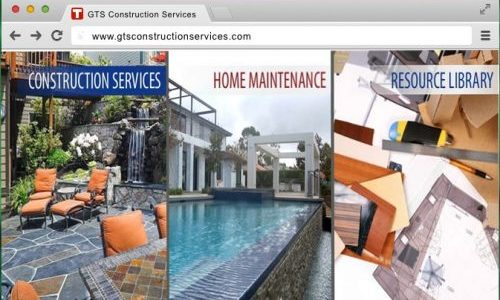 Make Your Mark Web Design GTS Construction Services Homepage Banner; Custom Website Design