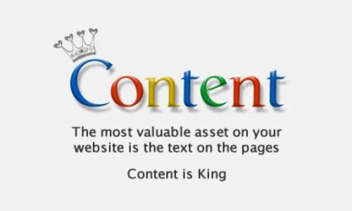 Make Your Mark Web Design Content is King Picture