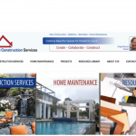 Make Your Mark Web Design GTS Construction Services homepage picture
