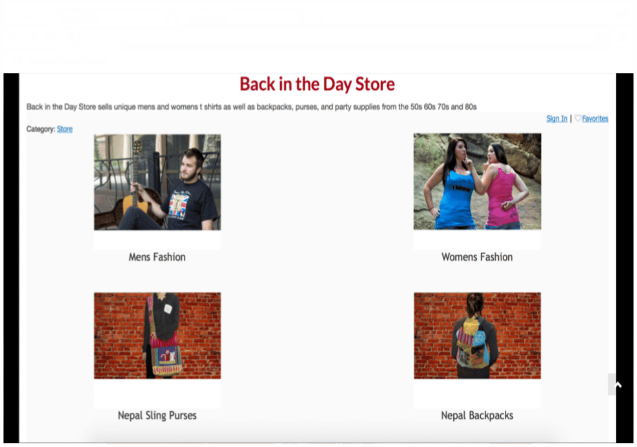Make Your Mark Web Design Back in the Day Store picture